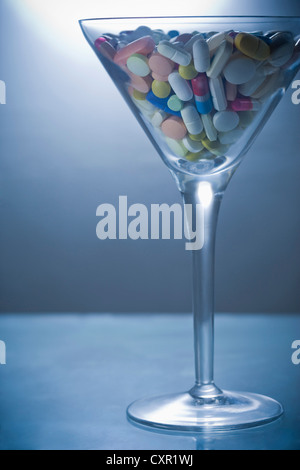 Cocktail of pills - Stock Photo
