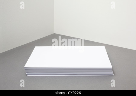 Stack of blank paper - Stock Photo
