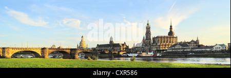 Skyline of Dresden at sunset. Germany