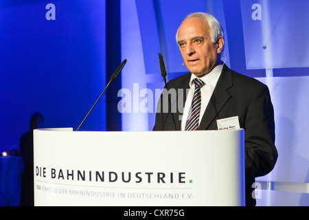 Dr. Klaus Baur, president of the VDB, Verband der Bahnindustrie in Deutschland e.V., German Railway Industry Association, - Stock Photo
