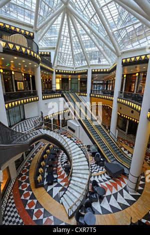 Atrium of the Quartier 206 department store, Friedrichstrasse, Berlin, Germany, Europe - Stock Photo