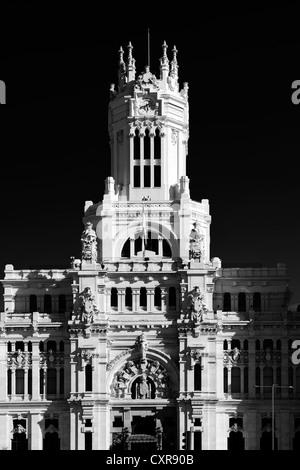 Palacio Nuestra Señora de Correos palace, also known as Palacio de Comunicaciones palace, post office, Madrid, Spain, - Stock Photo
