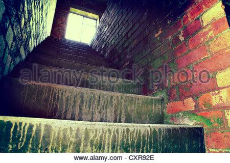 grunge stairs - Stock Photo