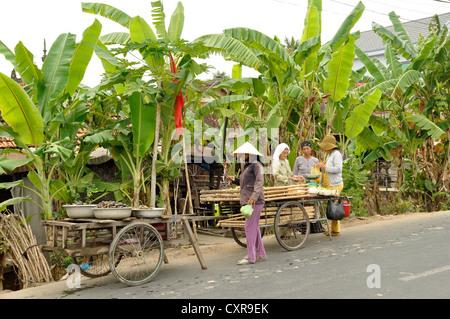 Street scene, Chau Doc, Mekong Delta, Vietnam, Southeast Asia, Asia - Stock Photo