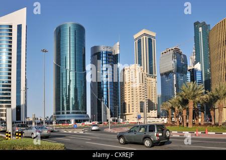 City center, Doha, Qatar, United Arab Emirates, Middle East - Stock Photo