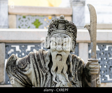 Guardian figure, Royal Grand Palace, Bangkok, capital of Thailand, Southeast Asia, Asia - Stock Photo