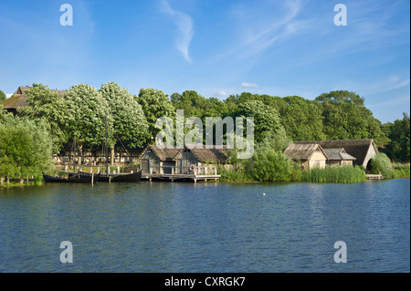 Wallmuseum, Slavic village and lake Wallsee, Oldenburg in Holstein, Baltic Sea, Schleswig-Holstein, Germany, Europe - Stock Photo
