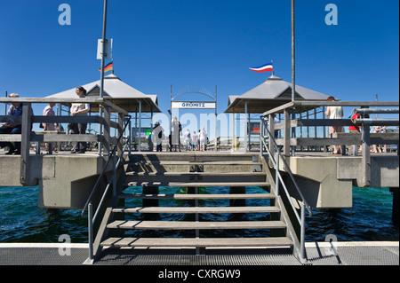 Pier, Groemitz, Baltic Sea, Schleswig-Holstein, Germany, Europe - Stock Photo
