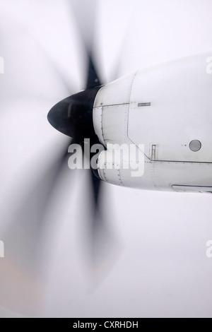 airscrew of older airliner in New Zealand