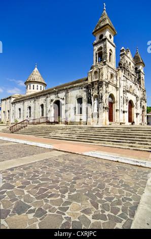 Iglesia de Guadalupe church, built in 1624 -1626, Granada, Nicaragua, Central America - Stock Photo