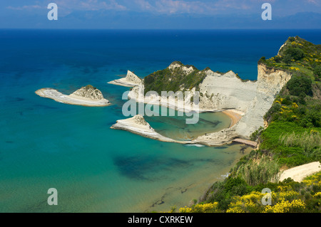 Cape Drastis at Sidari, Corfu, Ionian Islands, Greece, Europe - Stock Photo