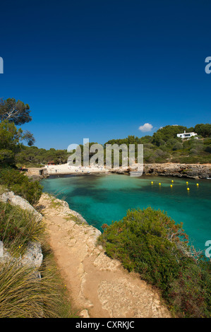 Bay, Cala Sa Nau, Mallorca, Majorca, Balearic Islands, Spain, Europe - Stock Photo