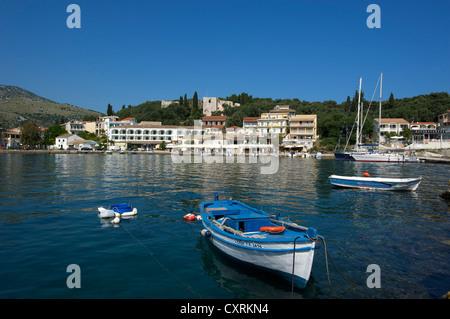 Port of Kassiopi, Corfu, Ionian Islands, Greece, Europe - Stock Photo