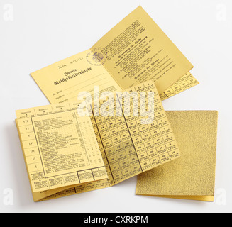 False Blank German Clothing Ration Books dropped by the British over Germany during WW2. - Stock Photo