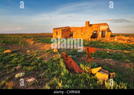 Ruins of Warrina in the evening sun. - Stock Photo