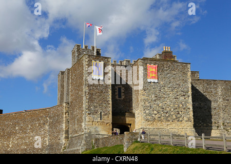 Entrance to the Great Tower Dover Castle Kent England GB UK - Stock Photo