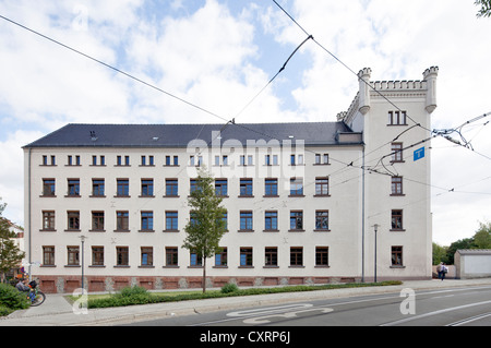Agentur fuer Arbeit, Employment Agency, former factory, Goerlitz, Upper Lusatia, Lusatia, Saxony, Germany, Europe, - Stock Photo