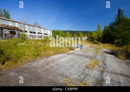 Lyndonville Air Force Station on East Mountain in East Haven, Vermont. The US Air Force built the North Concord - Stock Photo