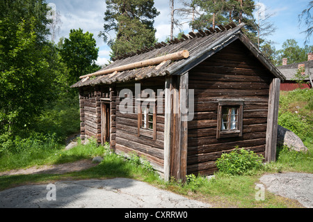 The Museum Island of Seurasaari, houses and other wooden architecture brought from all over Finland are on display - Stock Photo