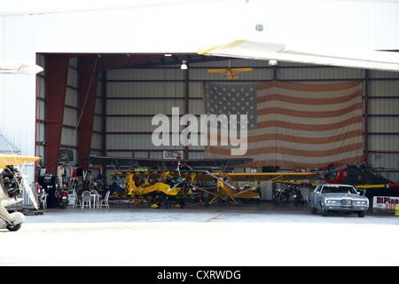 key west biplanes hangar at key west international airport florida keys usa - Stock Photo