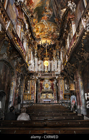 Asamkirche church, late baroque, also known as church of St. Johann Nepomuk, built between 1733 - 1746 by the Asam - Stock Photo