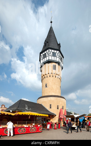 Bockenheimer Warte, former watchtower of the Frankfurt militia, Frankfurt am Main, Hesse, Germany, Europe, PublicGround - Stock Photo