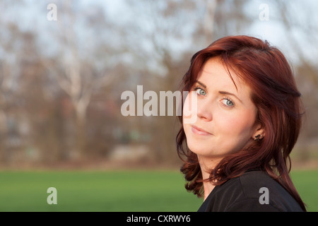Young woman, 25 years, portrait, Germany, Europe - Stock Photo