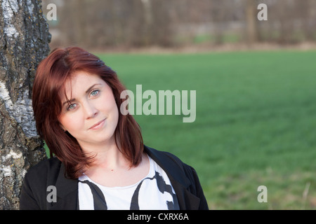 Young woman, 25, portrait, Germany, Europe - Stock Photo
