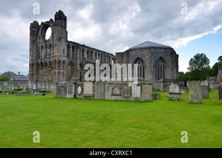 During the Reformation, the once largest cathedral in Scotland was destroyed, Elgin, Gaelic: Eilginn Muireibh, Moray, - Stock Photo