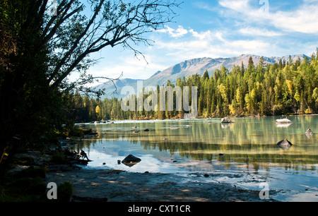 China Xinjiang scenery, Kala Si Lake - Stock Photo