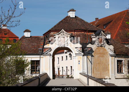 Schloss Seefeld Castle, Seefeld, Five Lakes region, Upper Bavaria, Bavaria, Germany, Europe, PublicGround - Stock Photo