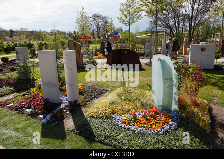 Grave or cemetery garden, Bavarian horticultural show 2012 in Bamberg, Upper Franconia, Franconia, Bavaria, Germany, - Stock Photo