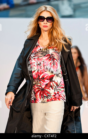 Young woman, model in the Spring and Summer Fashion Show 2012 in Pilatusmarkt in Kriens, Lucerne, Switzerland, Europe