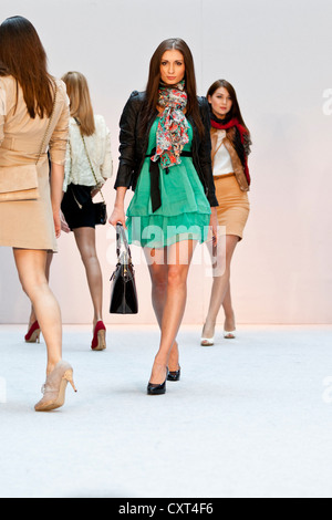 Young women, models in the Spring and Summer Fashion Show 2012 in Pilatusmarkt in Kriens, Lucerne, Switzerland, Europe