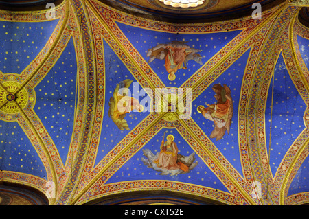 Ceiling design, Basilica di Santa Maria sopra Minerva, Basilica of Saint Mary Above Minerva, Rome, Italy, Europe - Stock Photo
