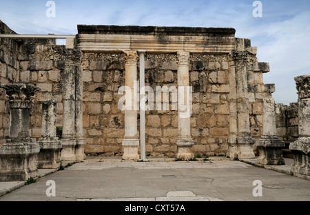 Synagogue in Capernaum, Israel, Middle East - Stock Photo