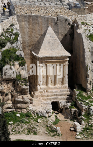 Tomb of Zechariah in the Kidron Valley, Jerusalem, Israel, Middle East - Stock Photo