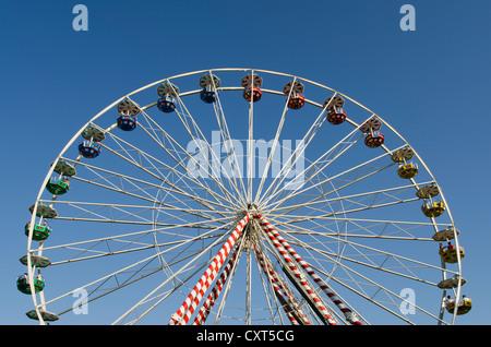 Ferris wheel at the Dult fun fair, Landshut, Bavaria - Stock Photo