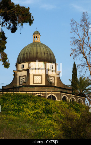 Church of the Beatitudes, site of the Sermon on the Mount, Sea of Galilee, Israel, Middle East - Stock Photo