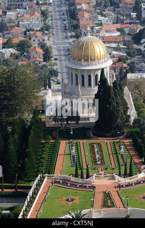Persian gardens and the Bahai Shrine, Haifa, Israel, Middle East, PublicGround - Stock Photo