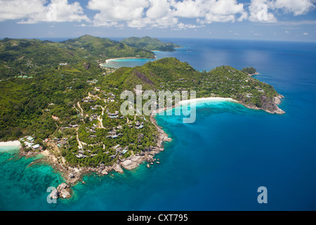 Four Seasons Resort, Petite Anse, southern Mahe, Mahe, Seychelles, Africa, Indian Ocean - Stock Photo