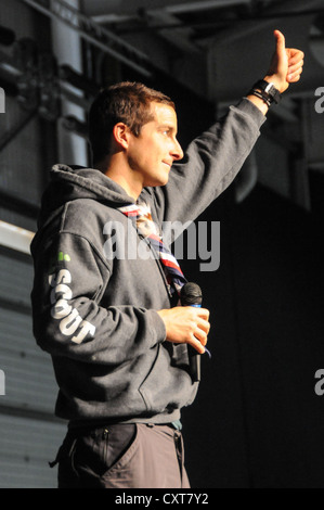 Bear Grylls, Chief Scout Adventurer and family man!  Host of Man Vs Wild,  Born Survivor & Ultimate Survival - Stock Photo