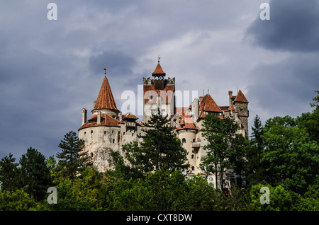 Medieval castle, Bran - Romania, Transilvania, known as Dracula's Castle - Stock Photo