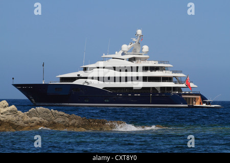 Amaryllis, a cruiser built by Abeking & Rasmussen, length: 78.43 meters, built in 2011, French Riviera, France, - Stock Photo