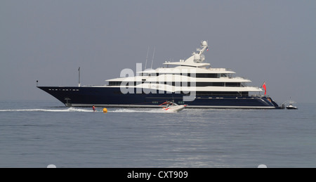 Amaryllis, a cruiser built by Abeking and Rasmussen, length: 78.43 meters, built in 2011, French Riviera, France, - Stock Photo