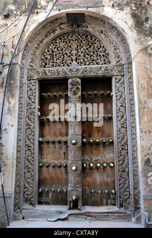 Morocco; Old ornate arabic door in Stone Town Zanzibar Tanzania - Stock Photo & Old ornate arabic door in Stone Town Zanzibar Tanzania Stock Photo ...