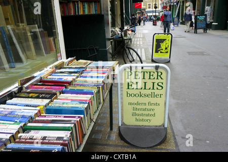 Sign for Peter Ellis bookseller in Cecil Court, London. - Stock Photo