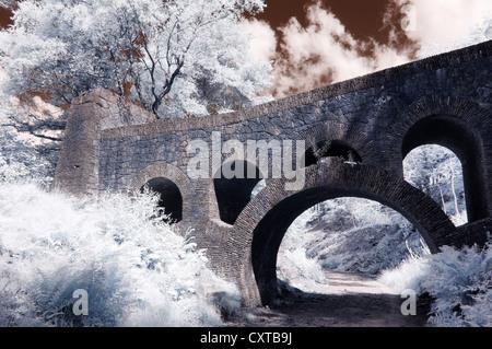 Seven Arch Bridge, Lever Park, Rivington - Stock Photo