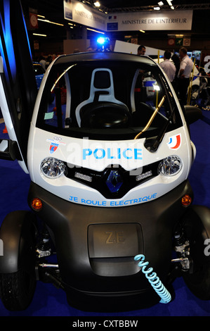 Renault Twizy for police,Electric car,zero emission,Paris Motor Show,France - Stock Photo