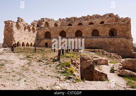 Keep at Karak Castle, Karak, Jordan - Stock Photo